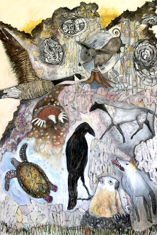 The Animal Selves Rejoice as the Pandemic Recedes - Artwork by Cecelia Kane