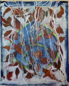 Falling Leaves No.2, 36x44, acrylic and charcoal on canvas, 2015